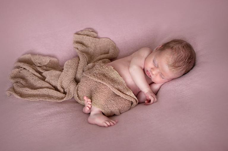 Edinburgh Newborn photographer in basket