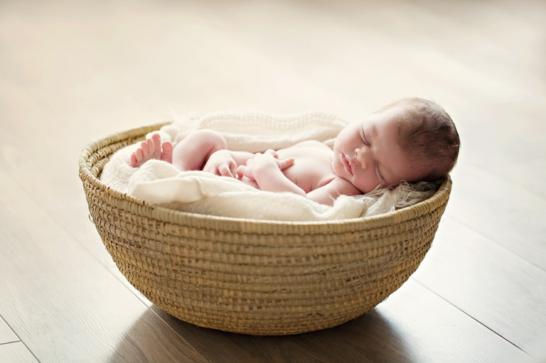 newborn in the basket