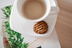 free from cookie recipe and picture of cookie and coffee cup