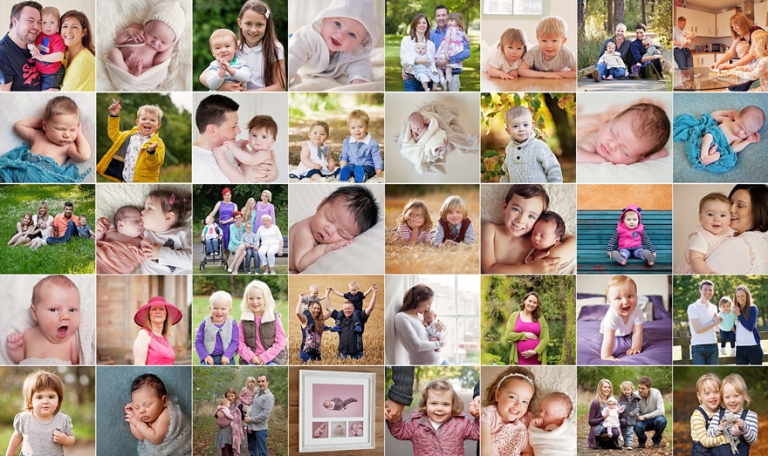lots of mini pictures of babies