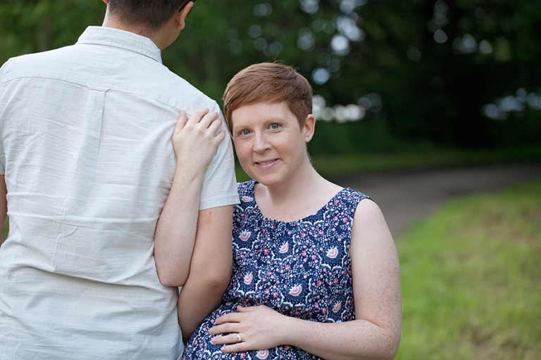 beautiful pregnant lady with red hair