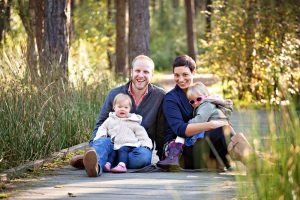 family photography Fife in the Devilla forest