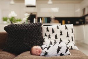 baby on the sofa