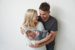 family with new baby
